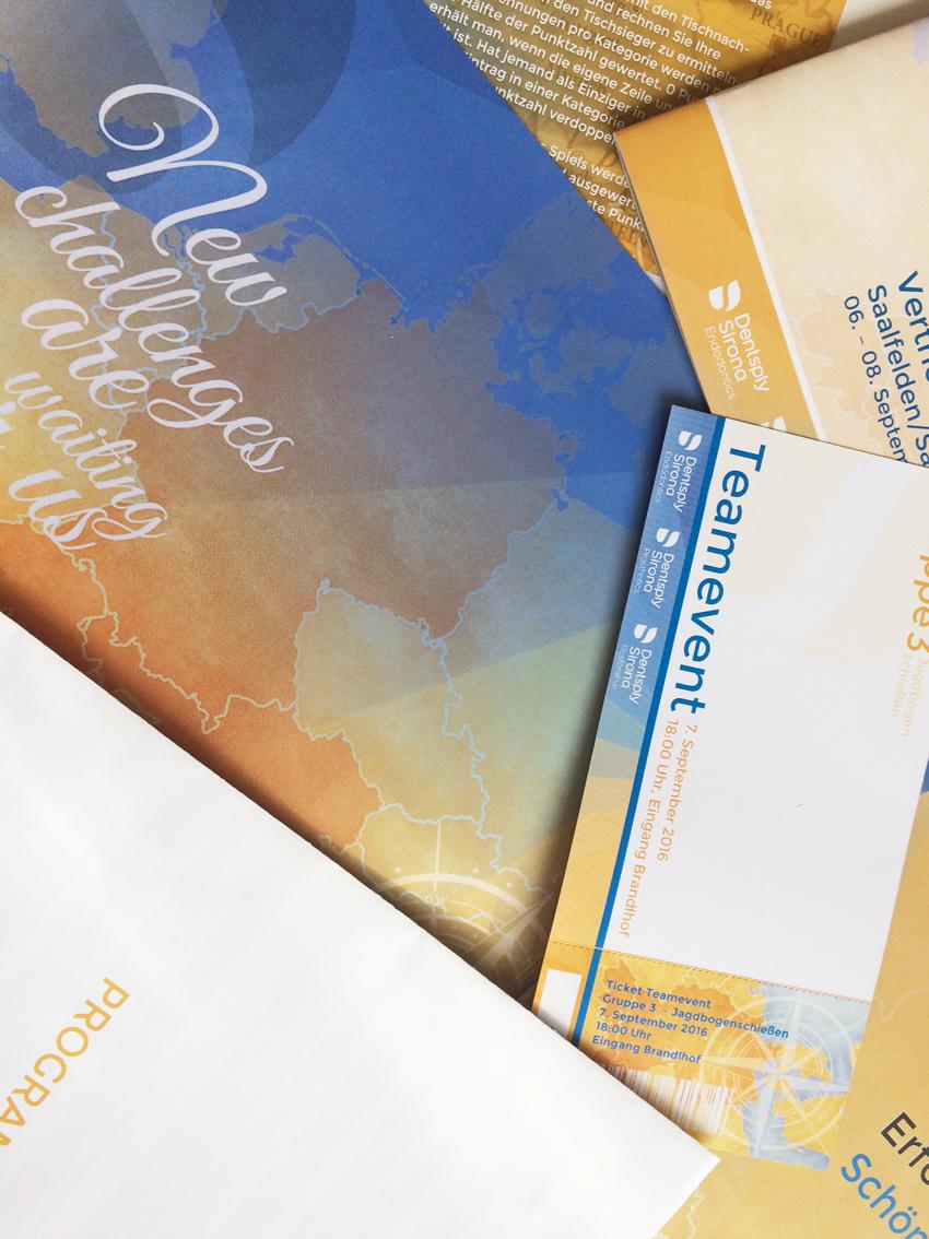 Ausstattung Printmaterialien